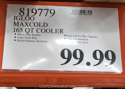 Deal for the Igloo Maxcold Premium 165 qt Cooler at Costco