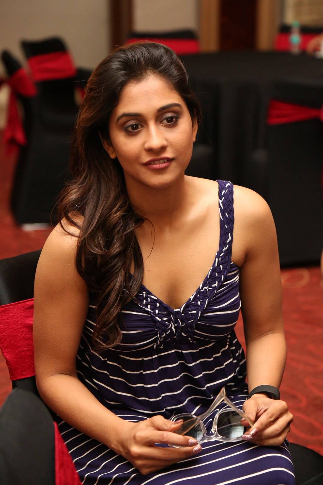 Bollywood Hot Actress Regina Cassandra Face Stills With Glass