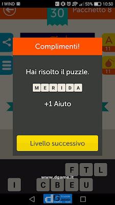 Mega Quiz soluzione pacchetto 8 livelli 30-60