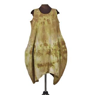 desert dress by secret lentil linen lagenlook hand-dyed