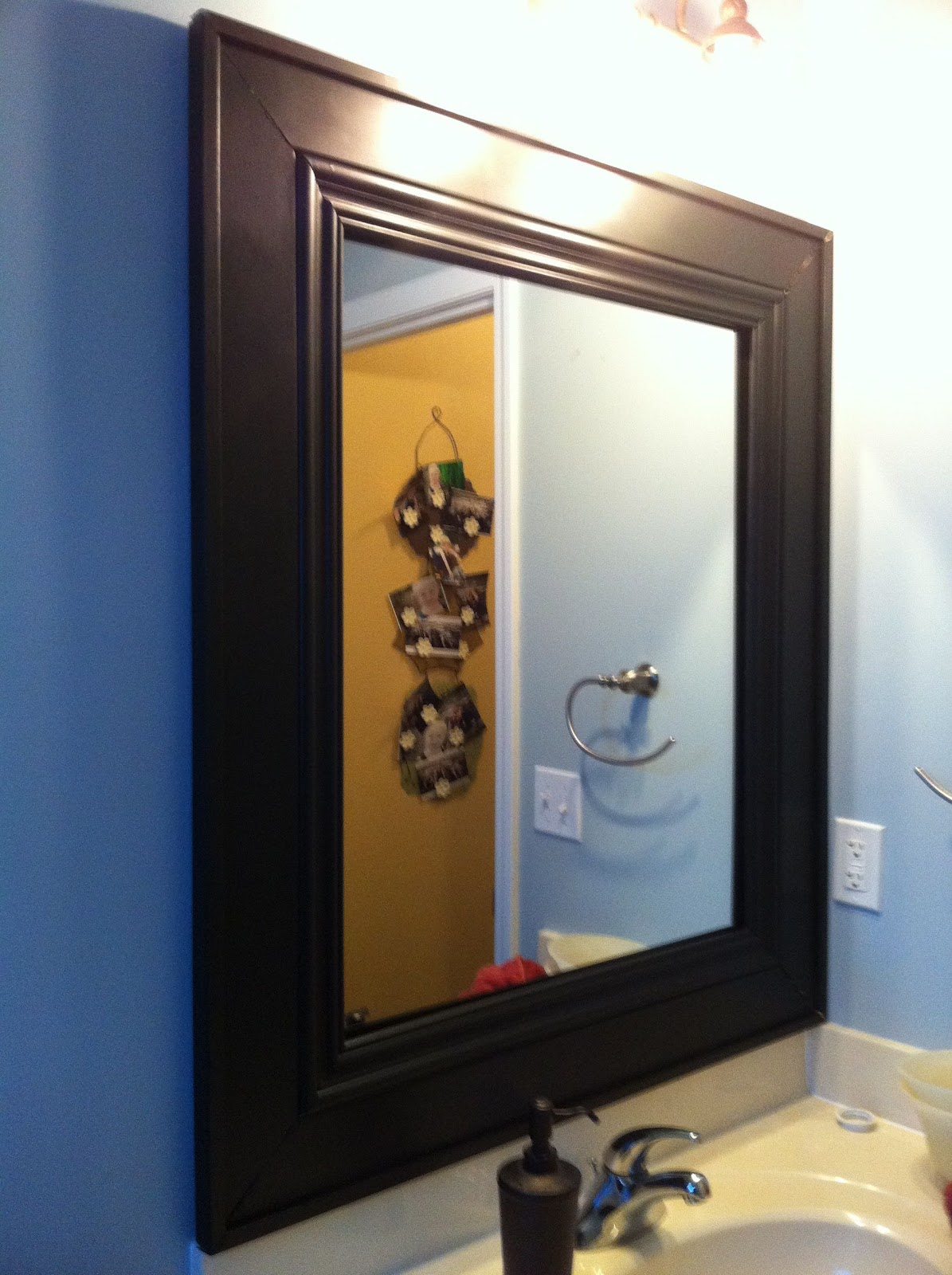 Impatiently Praying for Patience: Half bath mirror frame