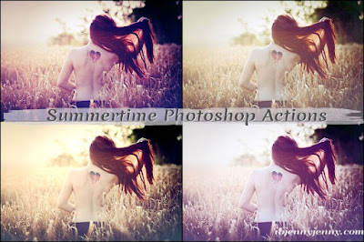 FREE SUMMERTIME PHOTOSHOP ACTIONS