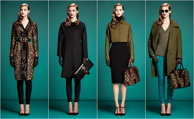 pre-fall 2013 chic sleek Gucci looks