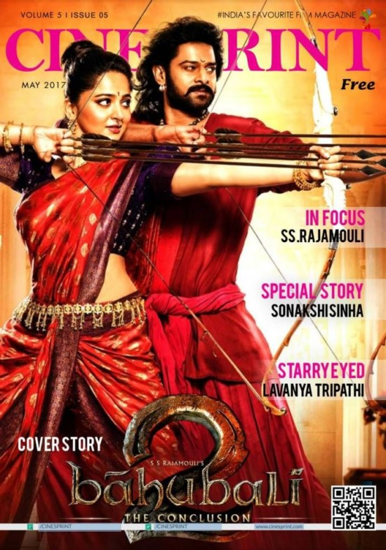 Prabhas and Anushka Features on The Cover of Cinesprint Magazine May 2017