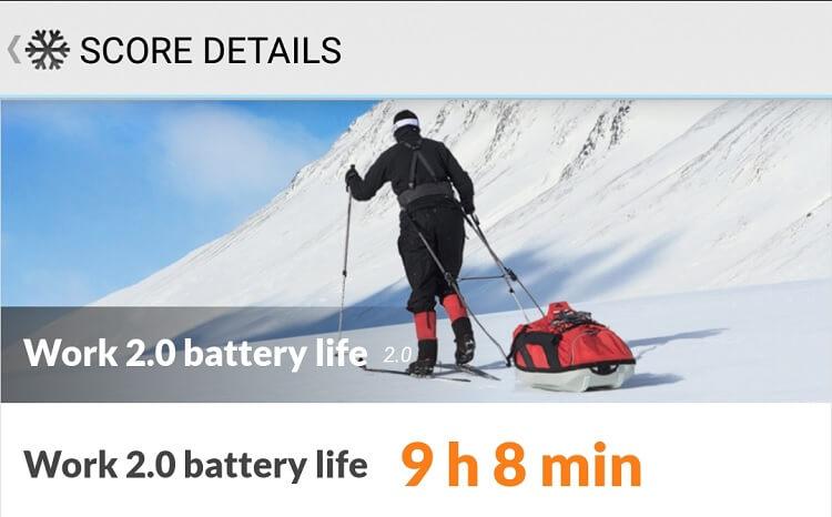 PCMark Battery Life Test Result