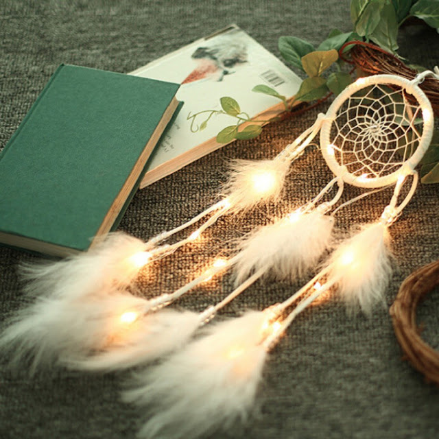 $3.30 OFF Dream Catcher Feathers Light Portable Handmade Night Light,free shipping $4.12 (Code:ZH23224)