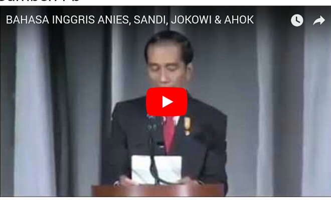 [Video Clip] BAHASA INGGRIS antara ANIES-SANDI dengan JOKOWI-AHOK, Mana yang Lebih Jago??
