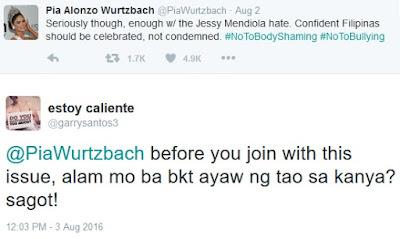 Netizen asks Pia Wurtzbach if she knows why people hate Jessy Mendiola