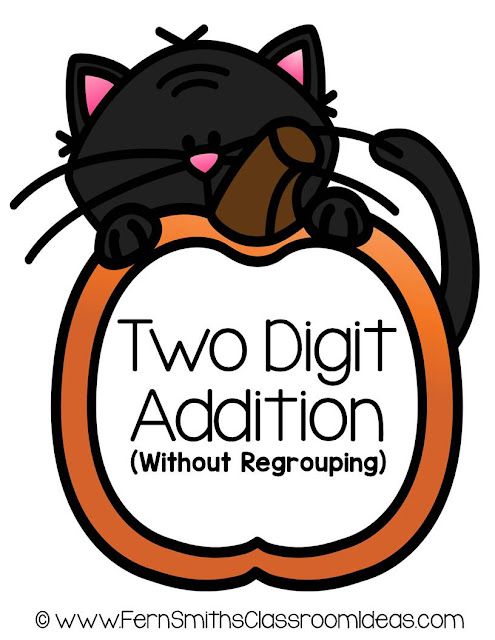Fern Smith's Classroom Ideas Halloween - Two Digit Addition Without Regrouping Math Center Game at TeachersPayTeachers.