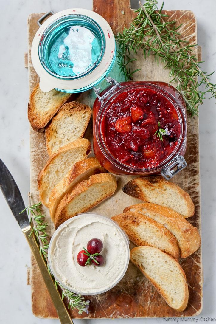 Cranberry Chutney Crostini