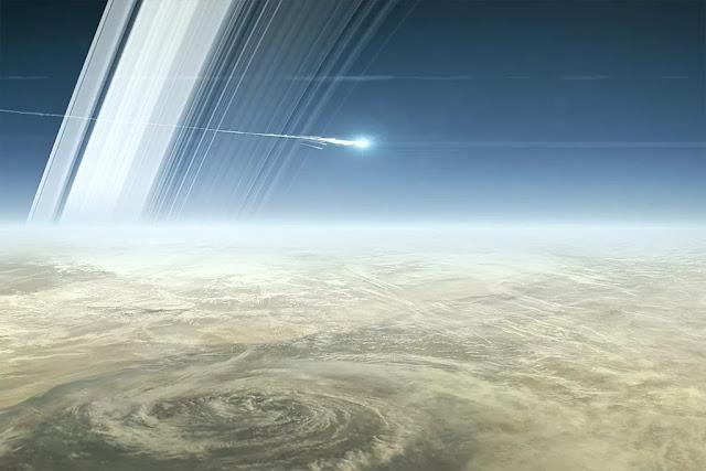 O mergulho da sonda Cassini em Saturno