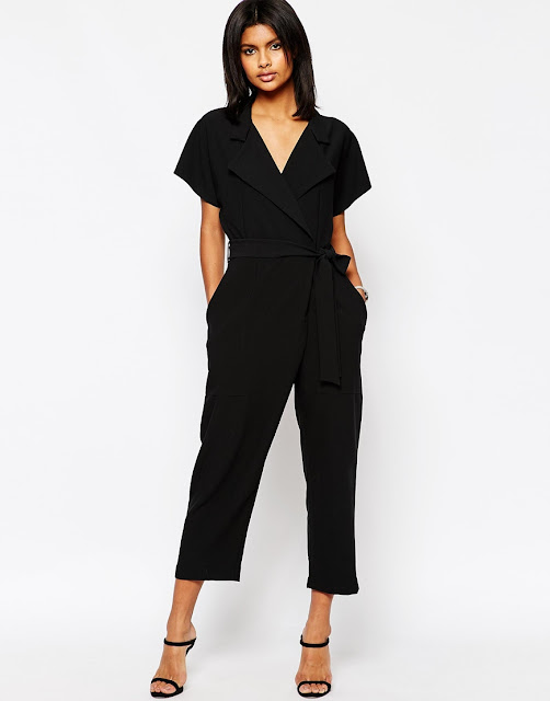 wrap black jumpsuit, wrap tie waist culotte jumpsuit,