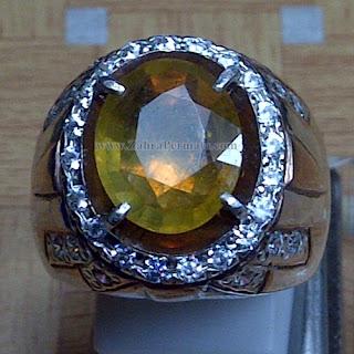 Cincin Batu Permata Yellow Safir - ZP 1007