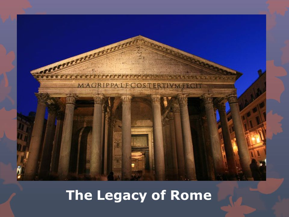 the legacy of roman civilization The roman empire played a major role in the spread of christianity christian missionaries converted many within the empire the roman catholic church became the powerful organization in western europe.