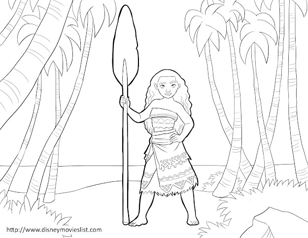 Disneys Moana Coloring Pages Sheet Free Disney Printable Moana Color Page