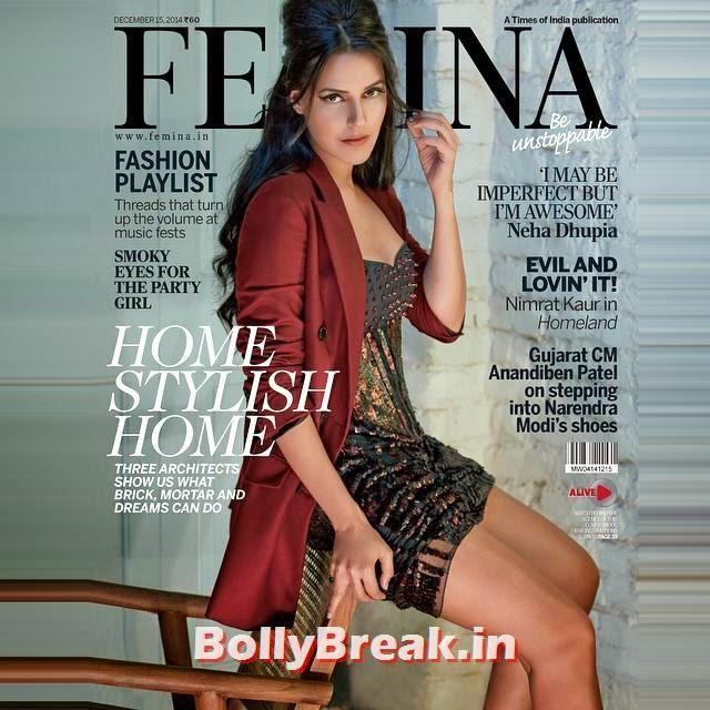 @feminaindia nofilter , @colstonjulian @dtejuja, Neha Dhupia covers FEMINA Dec 2014 eidtion
