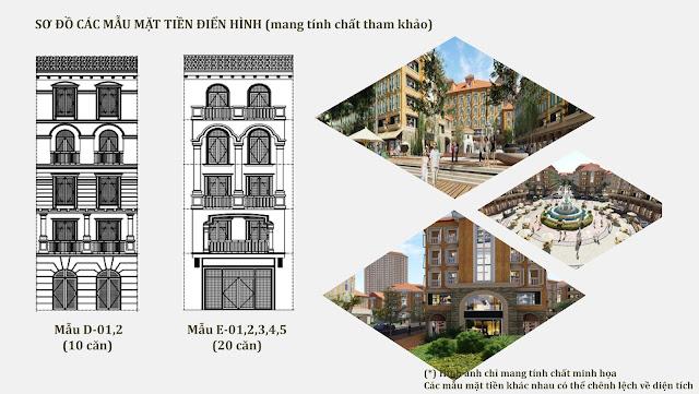 Thiết kế các mẫu điển hình nhà phố Harbor Bay