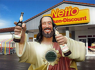 Stara Cervisia Netto Bier Jesus lustig