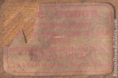 Early F. E. Dodge Drum Label, ca. 1903
