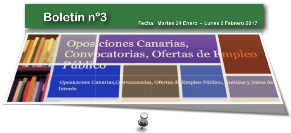 Oposiciones canarias convocatorias ofertas de empleo p blico - Ofertas canarias enero ...