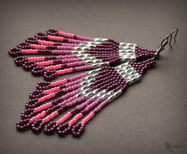 купить стильные вечерние серьги из бисера сверкающие украшения