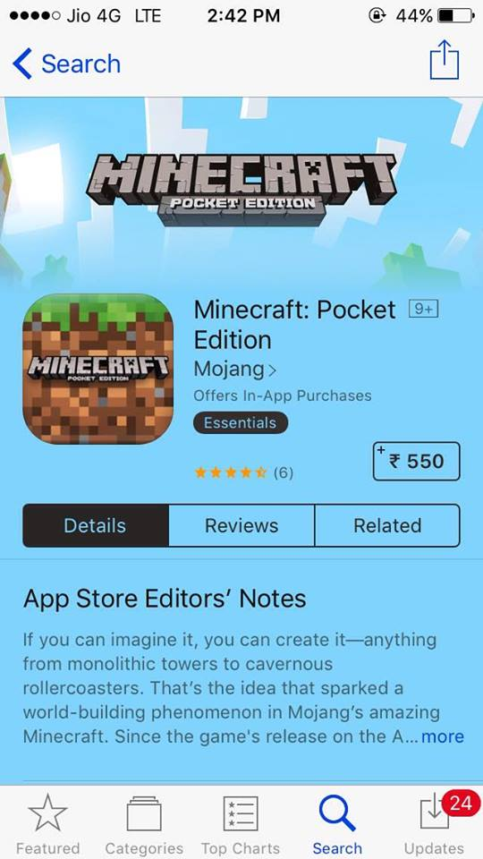 iOS] Download Minecraft: Pocket Edition (MCPE) for Free on