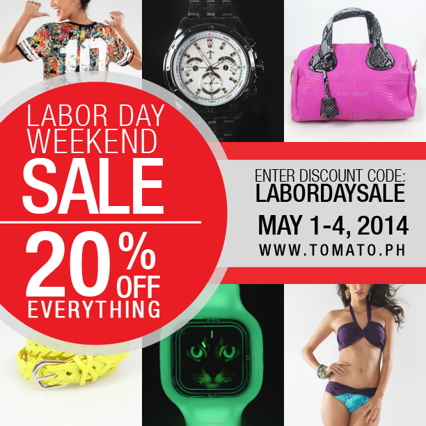 Weekend Discount: Tomato Labor Day Sale Weekend May 1 To 4 2014