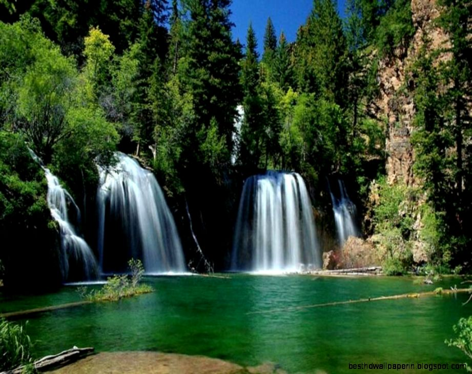 small waterfall nature wallpapers hd for desktop best hd wallpapers