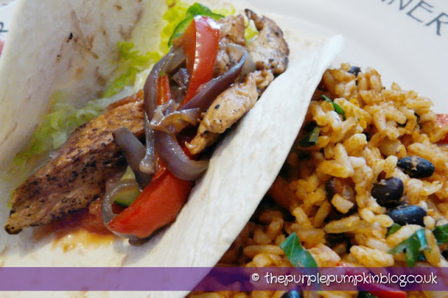 Chicken Fajitas and Mexican Rice at The Purple Pumpkin Blog