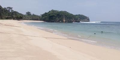 pemandangan pantai pasir panjang ngliyep malang
