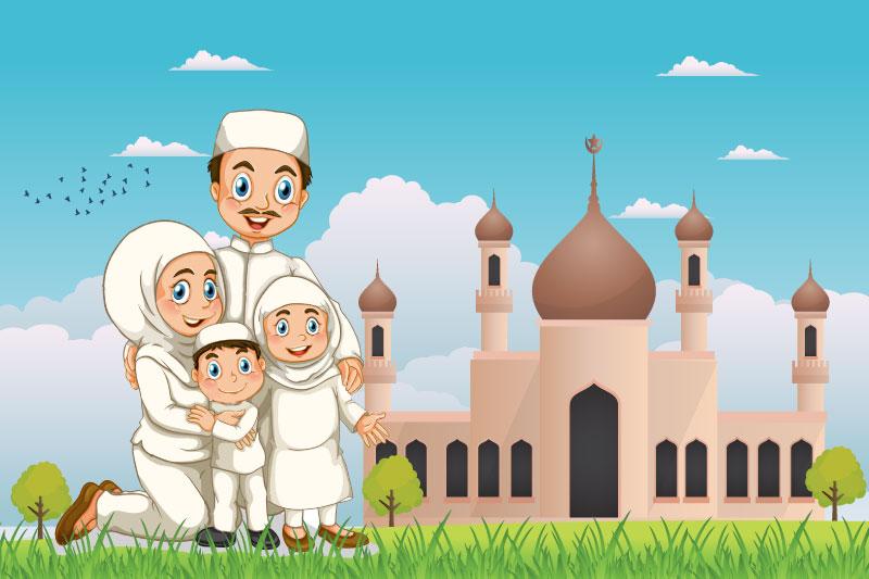 Gambar Masjid Kartun Ada Orangnya Gambar Masjid Kartun