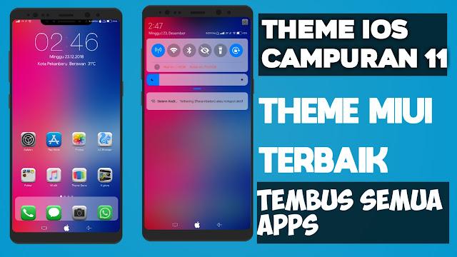 Theme Miui IOS CAmpuran 11 Jadikan Xiaomi mu seperti IOs