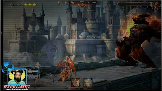 Opening combat scene involving two epic heroes fighting a Molten Giant