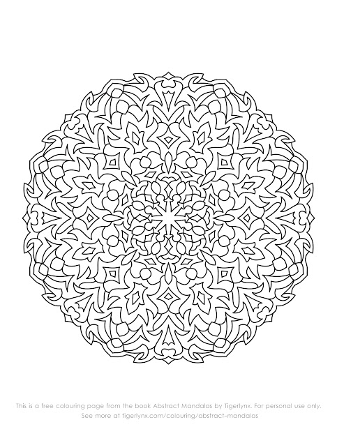 Easy Mandalas Black Sample Abstract Mandalas Sample Magic Mandalas  Free Mandala  Coloring Pages