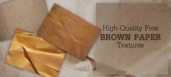 10 texturas papel marron
