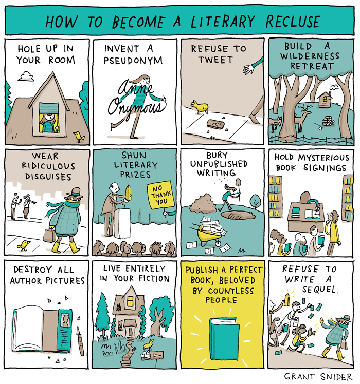 How to Become a Literary Recluse - Grant Snider