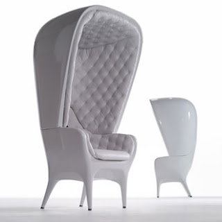 Diseño de sillón único color blanco