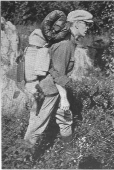 Arthur O. Friel with his backpack