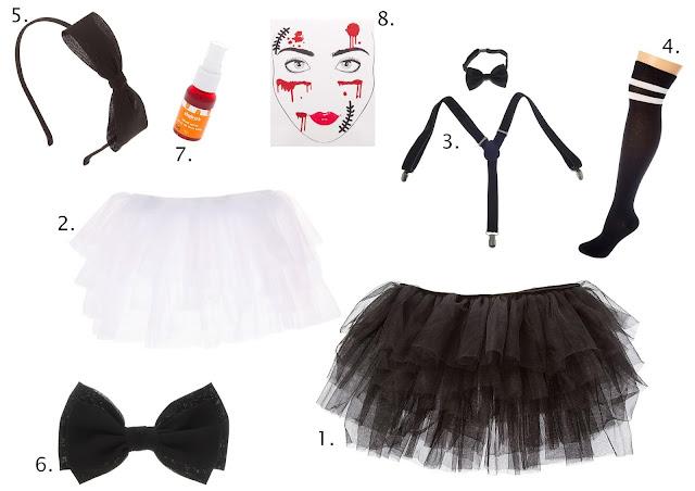 Accessoires déguisement poupée diabolique chez Claire's blog mariage et jolies fêtes www.unjourmonprinceviendra26.com