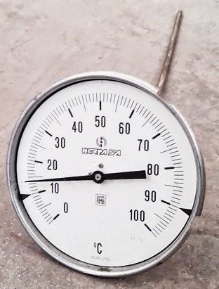 Aparatos Tecnicos E Instrumentacion Termometro Bimetalico Ao esfriar, a lâmina volta à sua posição inicial. aparatos tecnicos e instrumentacion