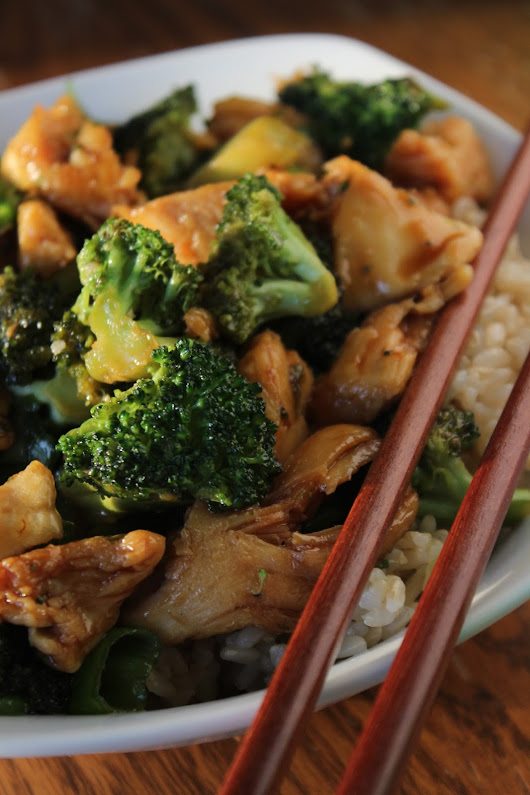 Chicken & Broccoli Stir-Fry In Soy Sauce