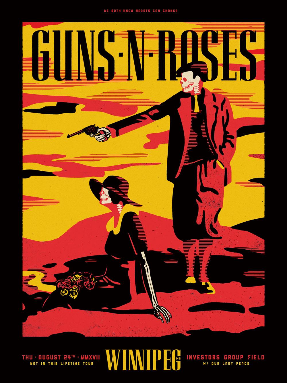 Guns N Roses Tour Poster  Dc