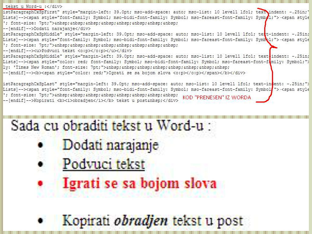 Kako kopirati tekst is Word-a u post na blogu