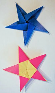 5 pointed origami star from pentagon