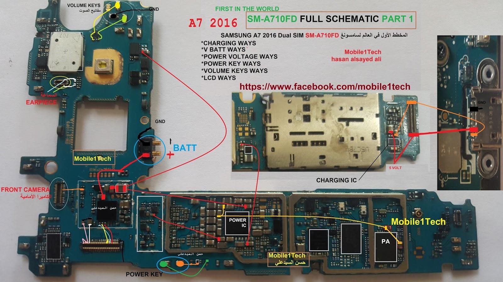 حصري : مخططات صيانة لسامسونغSM-A510FD/SM-A710FD/SM-A700H/SM