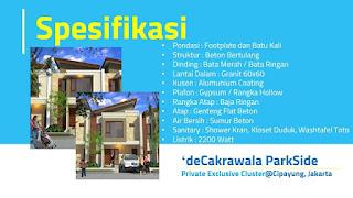 Rumah dijual di Cakrawala Parkside Cipayung