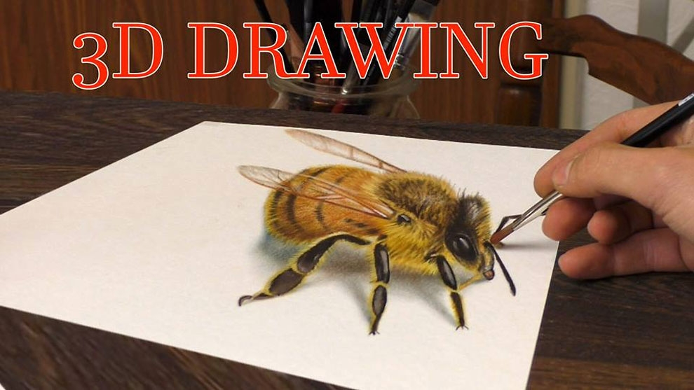 12-Honey-Bee-Stefan-Pabst-NO-Photoshop-3D-Anamorphic-Drawings-with-Video-www-designstack-co
