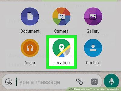 Cara Share Lokasi Pada Aplikasi Whatsapp