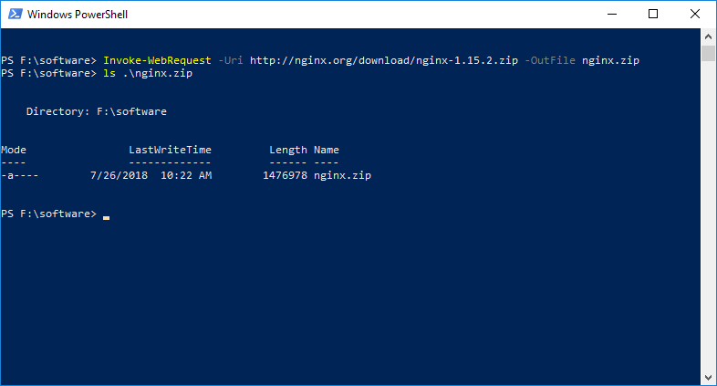Powershell: Use Invoke-WebRequest to Download File