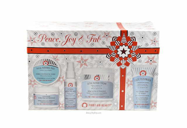 holiday gift guide 2015 first aid beauty peace, joy & fab kit